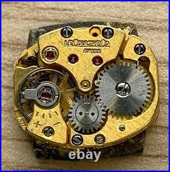 Jaeger LeCoultre Club 807 Hand Manual 15 mm NO Funciona For Parts Watch Swiss