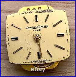Jaeger Lecoultre Club 807 Hand Manual 15 MM Doesn'T Works For Parts Watch Swiss