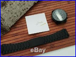 L0RSA ETA Valjoux 7750 Military watch kit with case, dial, metal band, hands new