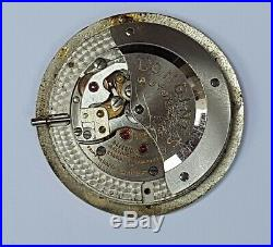 LONGINES 19A Automatic Watch Movement, dial and hands for parts repair