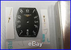 LONGINES Evidenza Black Tonneau Date Dial Approx. 20.4mm x 25.2mm + 3 Hands NOS