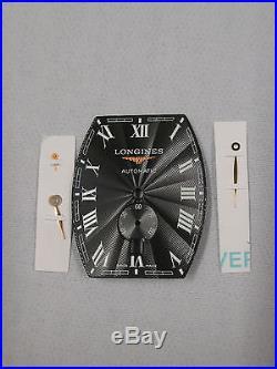 LONGINES Evidenza Black Tonneau Date Dial Approx. 26.6mm x 32.5mm + 3 Hands NOS