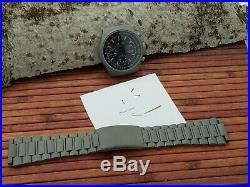 LORSA ETA Valjoux 7750 Military watch kit with case, dial, metal band, hands