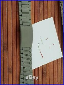 LORSA ETA Valjoux 7750 Military watch kit with case, dial, metal band, hands new