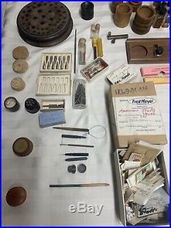 LOT Watch Repair Tools Parts Books Catalogs Staffs Main Springs Hands Swiss