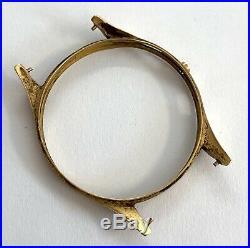 Landeron Cal. 48 solid gold case caja oro cassa oro hand manual 36,5 mm 3WC