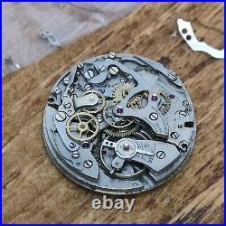 Landeron Cal 51 Chronograph Watch Movement, Ticking, Plus Parts, Hands (BQ73)