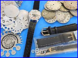 Large Assortment of Misc. Watch Parts-springs, jewels, hands, Spiro Agnew Watch
