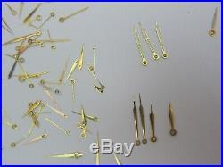 Large Lot Vintage Watch Hands Watchmaker Parts Repair
