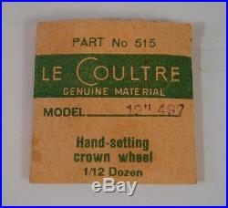 Le Coultre 497 12 Hand Setting Crown Wheel NOS