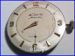 Lecoultre P 812 movement, dial, hour and second hand, incomplete for parts/repai