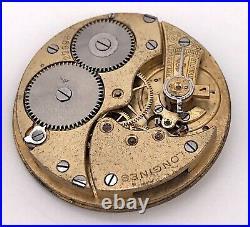 Longines 1869 N Vintage Hand Manuell Pocket Bewegung Tasche 40mm Für Parts 3WC