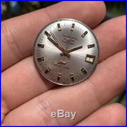 Longines Cal 431 Movement Dial Hands Automatic Ultra Chron For Parts Or Repair
