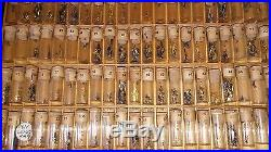Lot Of 2 Cabinet (assortment) Of Vintage Watch Hands For Wrist Watches