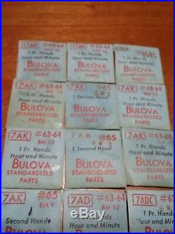 Lot Of Bulova Standardized Parts(hours, minutes, seconds hands)20unopened&38opened