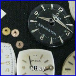 Lot Omega Watch Movement, Dials, hands, Crowns, Parts