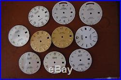 Lot of 10 various vintage TUDOR DIALS+HANDS