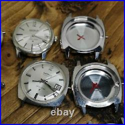 Lot of 12 NOS Benrus Steel Watch Cases, Some with Dials & Hands Parts (AW19)