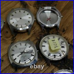Lot of 12 NOS Benrus Steel Watch Cases, Some with Dials & Hands Parts (AW20)