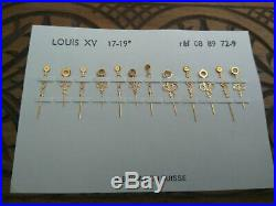 Lot of 12 Vintage Pocket Watch Louis XV Hands Watchmakers parts
