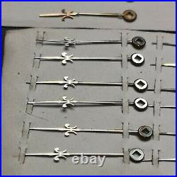 Lot of 23 New Old Stock Square Hole Fusee Pocket Watch Hands Parts (13J)