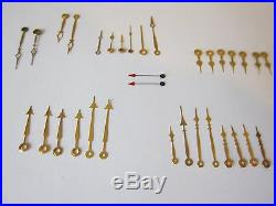 Lot of 35 Pocket Watch Hands, Watch Hands Watchmaker Repair Parts