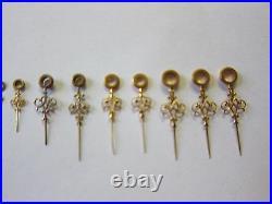 Lot of Vintage Pocket Watch Fancy Hands Watchmaker Repair Parts