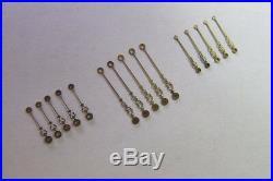 Lot of Vintage Pocket Watch Hands Fancy Watchmaker Repair Parts