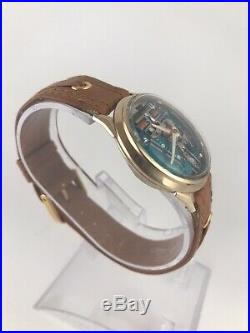 M7 Gold Filled Accutron Spaceview Red Second Hand Parts or Repair