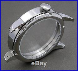 Marine Watch Kit Eta 6498-1 St. Steel Case + Dial + Hands Set + Strap Swiss New