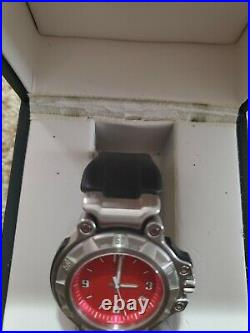 MEN'S OAKLEY CRANKCASE WATCH 3 Hand Red Face Rare Watch Parts or Repair