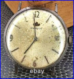 Marvin 525 Doesn'T Works For Parts Hand Manual 33,5 MM Vintage Watch