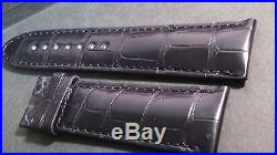 Montblanc Band / Strap padded BLACK 22/21mm Crocodile, hand-stitched, 108/75mm