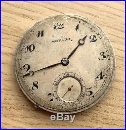 Movado pocket watch Balance OK Hand Manual 37,8 mm NO Funciona for parts reloj