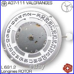 Movement Eta Valgranges A07-111, 3 Hands, Date, Longines L691.2, New