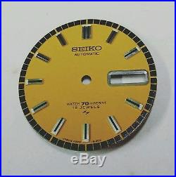 New Old Stock Dial And Hands Set For Seiko 7006-8030 Very Rare Nos