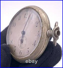 National Watch Hand Manuale Vintage 42,5 MM No Funziona For Parts Pocket Watch