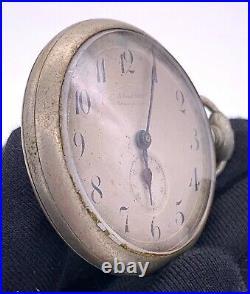 National Watch hand manual vintage 42,5 mm NO Funciona for parts pocket watch