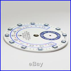 New! 100% Original ROLEX 44mm Yachtmaster II 2 White Dial with orig New Hand Set
