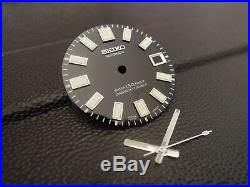 New Black Glossy 62mas Style Dial & Hands Fits Seiko Skx007/skx031 Diver's Watch