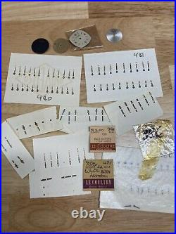 New Old Stock LeCoultre Watch Hand Sets And Dials Watchmaker Parts