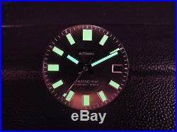 New Replacement Black Glossy 62mas Style Dial & Hands Fits Seiko Divers Watch