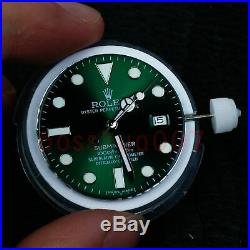 New yuki 3135 movement with dial and hands for submariner
