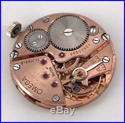 OMEGA Cal. 266 FUNCIONANDO vintage hand manual movement reloj cuerda 31,5 mm 3WC