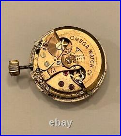 OMEGA Caliber 681 Auto Watch Movement Dial Hands Crown Parts RUNS Running Works