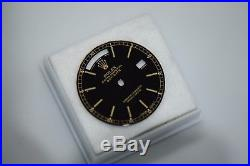 ORIGINAL ROLEX 18038 18238 DAYDATE GOLD MARK BLACK DIAL With HANDS MINT CONDITION