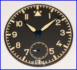 Old Radium Big Pilot Flieger Aviator dial and hands ETA Unitas 6498-1 or 6498-2