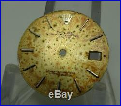 Old Rolex 1500 Case Tropical Dial And Hands Fit Cal 1560- Sold As Is