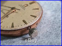 Omega 471 Seamaster, Movement, running, with dial and hands, old, sold AS IS