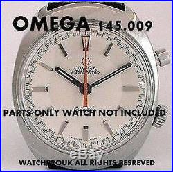 Omega Chronostop 145.009 145.010 Parts Glass Orange Hand